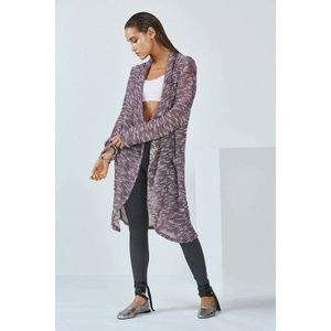Fabletics Moscow Wrap Open Duster Coat Cardigan